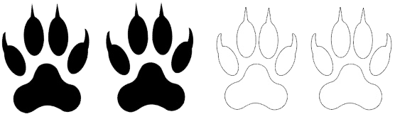 Deux pattes noires indiquant un niveau physique adapté aux personnes actives.